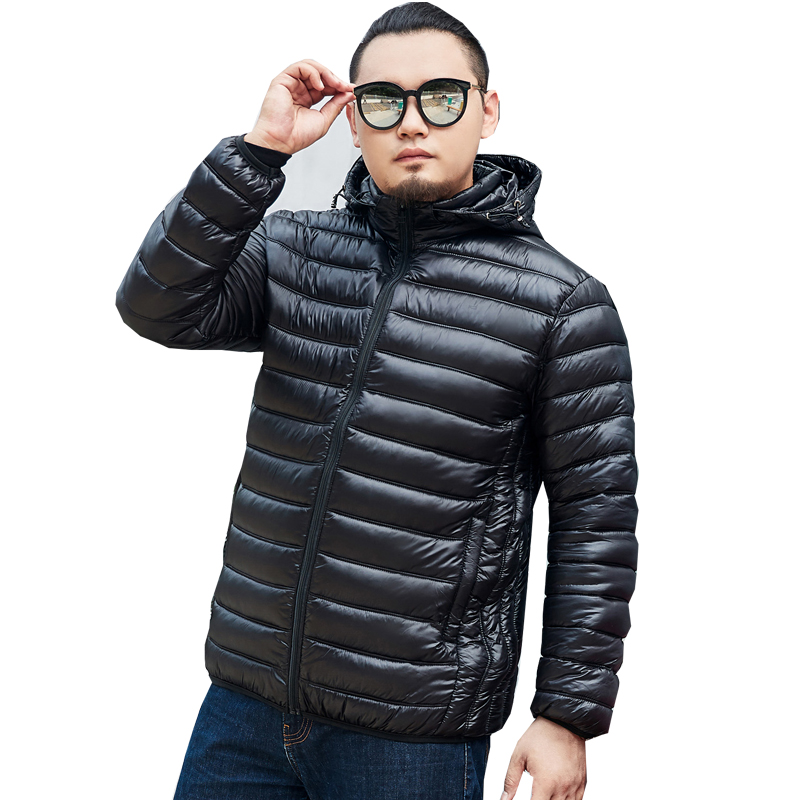 B plus size S-7XL 2018 New Men's Clothing Winter Jacket Long Coats with Hood for Leisure High-quality   Parka   Men Clothes Jacket