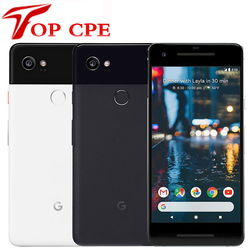 Original Google Pixel 2 XL Smartphone 2XL XL2 4G LTE 64GB 128GB 5.0'' Snapdragon 835 Octa Core Fingerprint Android Mobile Phone