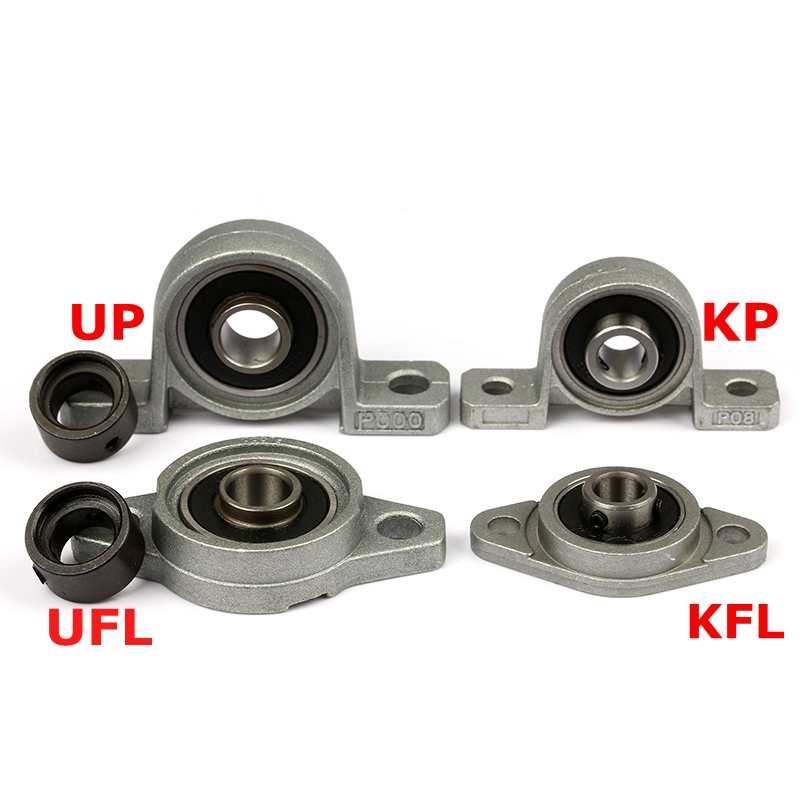 4pcs Kp08 Kfl08 Kfl000 Kp Bearing Insert Shaft Support Spherical Roller Zinc Alloy Mounted Bearings Pillow Block Housing