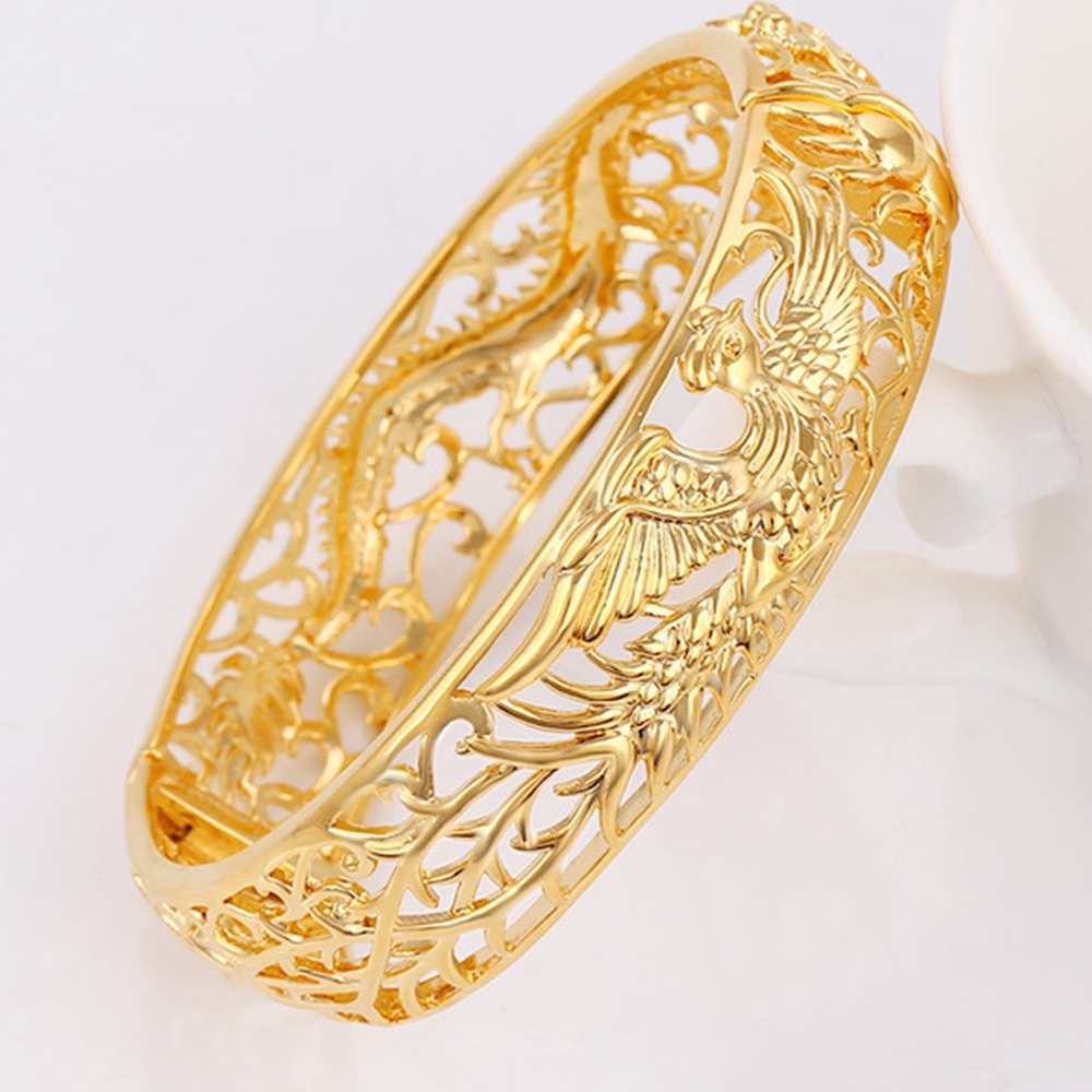 gold s solid from baby product lady women bangle bangles thick black filled fine bracelets bracelet xinyuyanjing carved plated