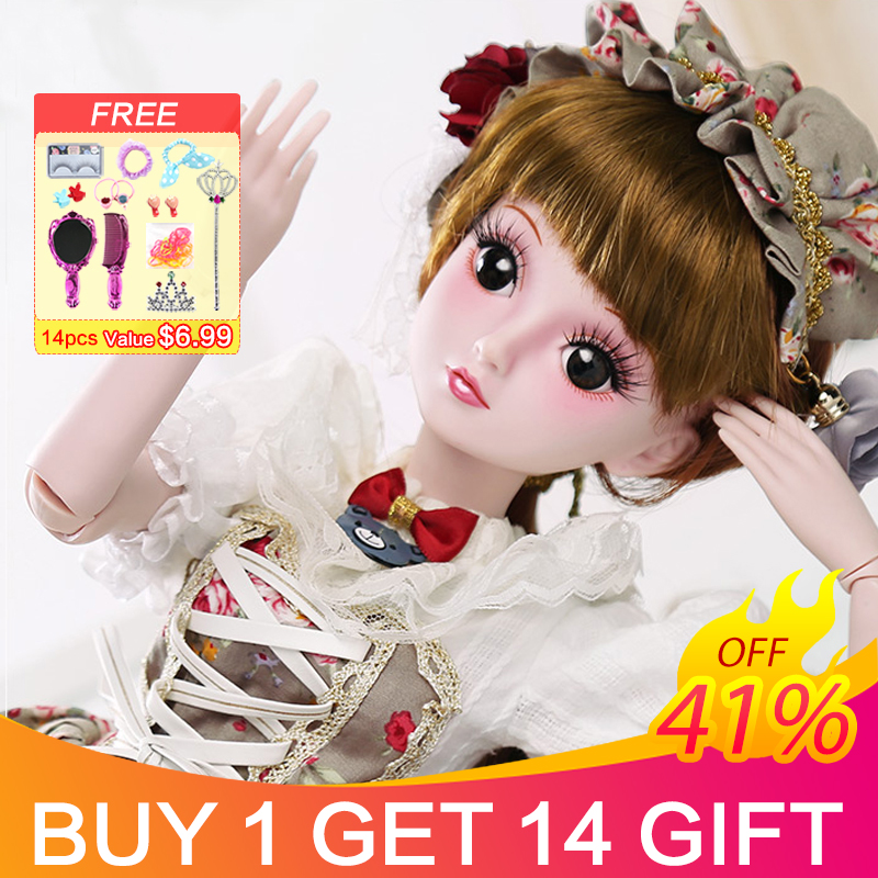 Toys & Hobbies Considerate Ucanaan 23.6 Bjd Dolls With 19 Ball Joints Clothes Outfit Shoes Wig Hair Makeup For Girls Gift And Dolls Collection Sd Doll