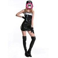 Abbille Halloween Costume Cop 2017 Woman Sexy Erotic Night Underwear Cosplay Lingerie Fantasias Feminina Para Festa