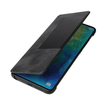 newisdom For huawei mate 20 pro case Genuine leather mate20 Smart flip protective 10 cover cases Business men