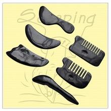 Buffalo Horn Beauty Gua sha Scraping Tool Thin Arm Leg Slimming V Line Face Plate