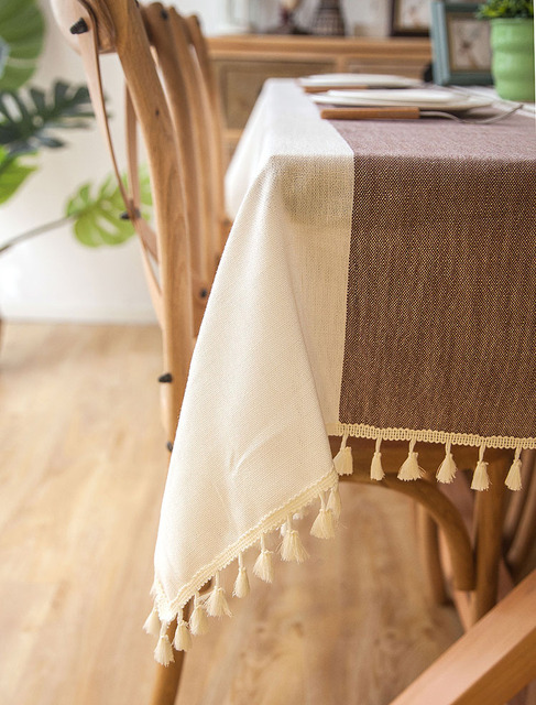 Waterproof Rectangle Linen Tablecloth