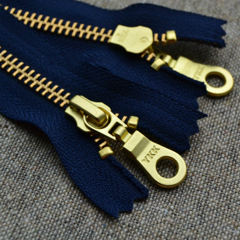 10 PCS/LOT (customize) MOST FREE SHIPPING Metal YKK Zipper Navy Blue CLOSE END For bag boots sewing Accessories SHOES clothing