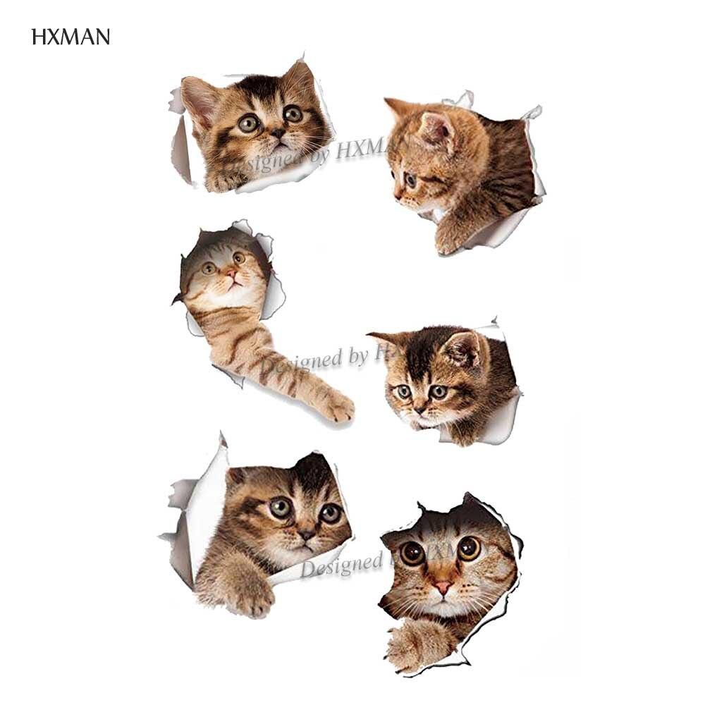 HXMAN Cat Temporary Tattoo Sticker Tattoos For Women Fashion Sexy Body Art Kids Hand Fake Tatoo 9.8X6cm A-133