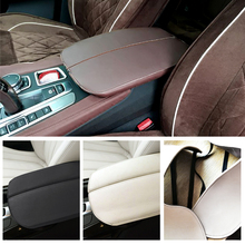 цена на For BMW X5 E70 2007- 2013 / F15 2014-2018 Car Center Console Armrest Pad Microfiber Leather Protection Trim Cover