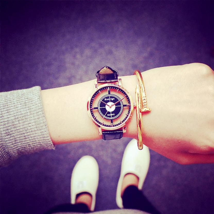Hollow Women Watches Neutral Fashion Personality Simple Digital Movement Quartz Hollow Ladies Watches