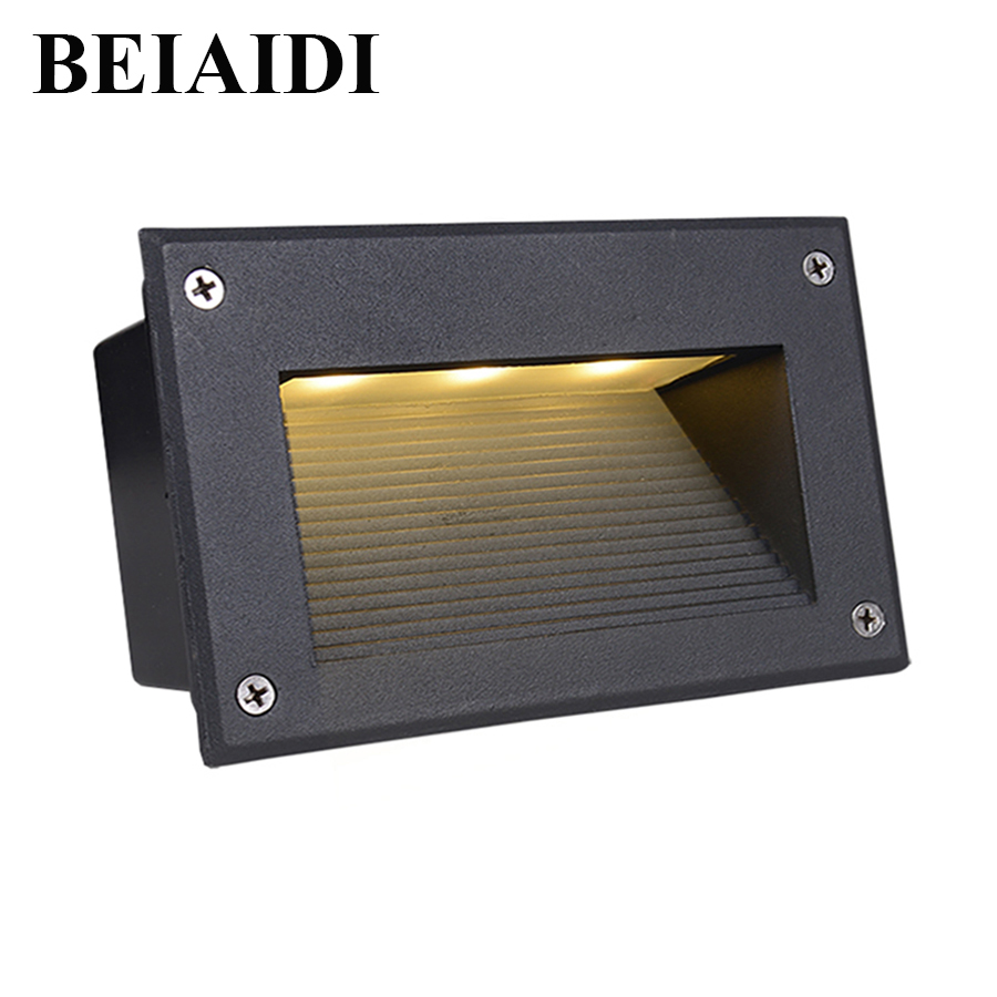 Led Underground Lamps 10pcs Led Wall Corner Lamp 5w Led Recessed Step Stair Light Waterproof Ip65 Pathway Warm White Ac85-265v Garden Lights Outdoor