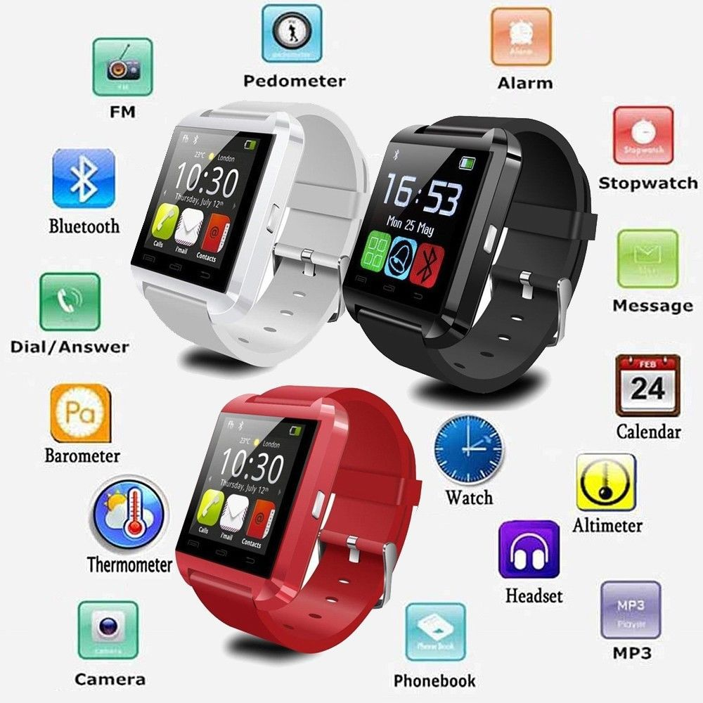 arrives c3090 47362 US $15.2 |Bluetooth Smartwatch U8 U Smart Watch for iPhone 6 6S / 6 Plus /  5S Samsung S6 / Note 4 3 2 HTC LG Sony Smartphones Android Wear-in Smart ...