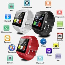 Bluetooth Smartwatch U8 U Smart Watch für iPhone 6 6 S/6 Plus/5 S Samsung S6/Note 4 3 2 HTC LG Sony Smartphones Android Wear
