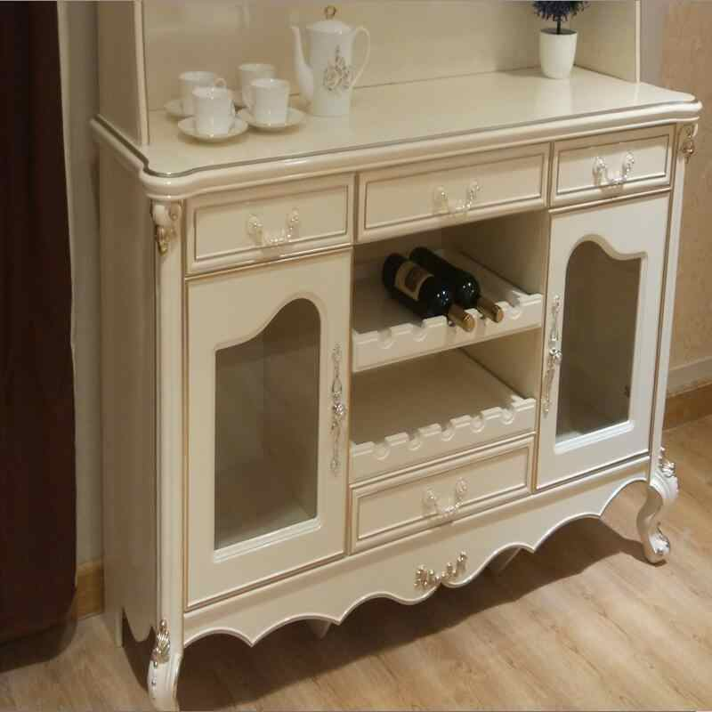 End Console Tea Cabinet Mesa Dolap Kaplama Sideboard European Vintage  Meuble Buffet Cupboard Kitchen Side tables Furniture
