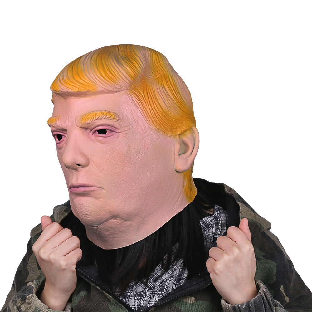 1PC Donald Trump Mask Billionaire Presidential Costume Latex Cospaly Mask For Halloween Party Decorations Ornament (4)