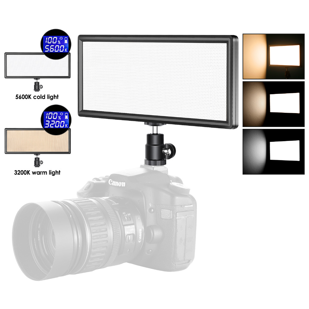 Led Fotoleuchte Neewer Super Dünne Farbe Dimmbare Led Videoleuchte Mit Lcd Display Ultra High Power Auf Kamera Led Panel 3200 Karat 5600 Karat Für Foto