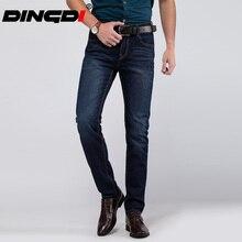 29-40 Big Size True Famous Brand Casual Straight Denim Jeans Men Pants Deep Blue Pantacourt Homme Marque Jeans