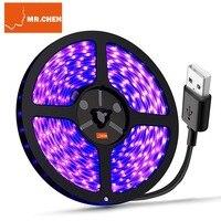 USB водостойкие 395nm светодиодные ленты черный свет ультрафиолетовая панель Лампы Бактерицидные дезинфекции ультрафиолета вылечения детект...
