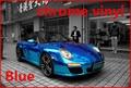 1 pc 1.52*0.5M Blue chrome vinyl chrome car wrap electroplate vinyl film chrome car sticker with bubble free FREESHIPPING TTT