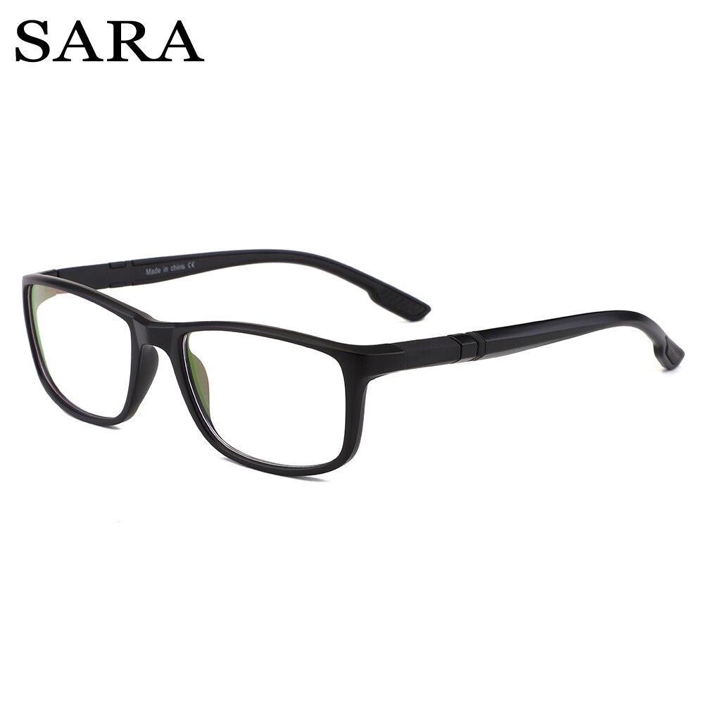 b3d959688 SARA Anti raios azuis Óculos de computador Homens Revestimento Óculos de  Jogos para computador proteção para os olhos Luz Azul Retro Óculos Mulheres