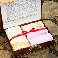 4 SZTUK Bamboo Fiber Rąk Zestawy Ręcznik kąpielowy Ręcznik Dorosłych Pływanie Sportowe Ręczniki Twarzy Luksusowy Prezent Jakości Tekstylia Domowe L-16