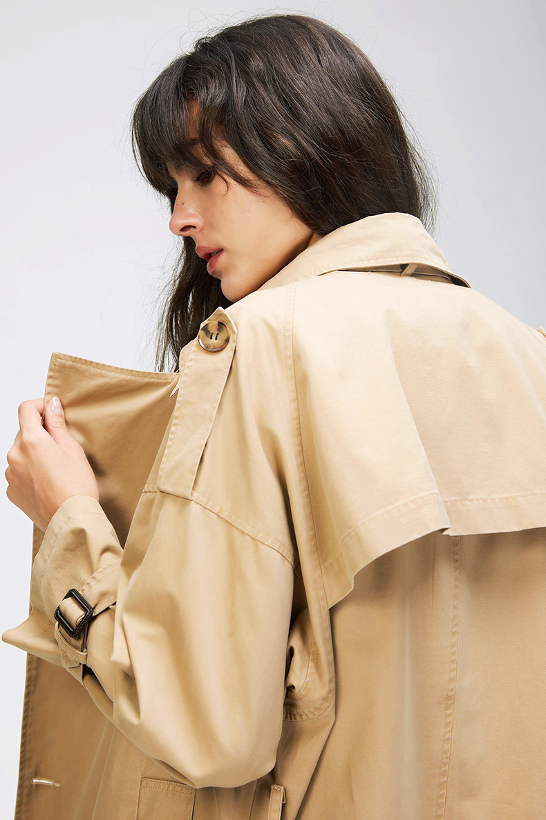 Casual Trench Double Breasted Oversize Coat