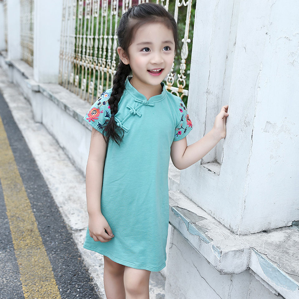 2018 Girls Dresses Teenage Spring Party Dress For Girls Short Sleeve ...