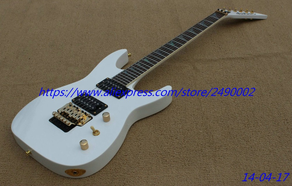 buy best electric guitar snow white parts jacksn type guitar abalone. Black Bedroom Furniture Sets. Home Design Ideas