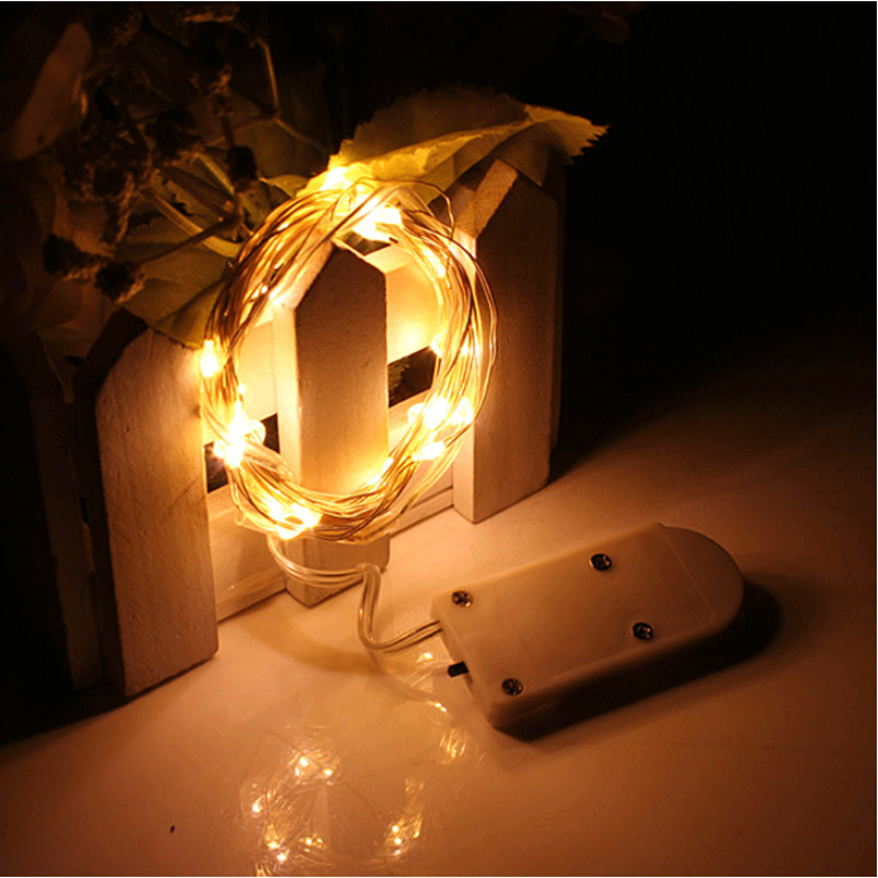 LED String Lights 3V Button Battery Operated 2M 20Led 5m 50LED Micro Led Fairy Light For Christmas Xmas Party Wedding Decor