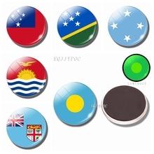 National Flag Luminous Fridge Magnets Glass Palau Kiribati The Independent State of Samoa Solomon Islands Refrigerator Magnet насос samoa 160101