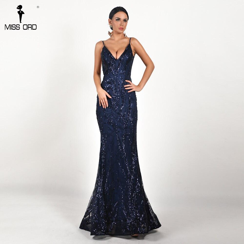 Missord 2018 Women Sexy Deep V Off Shoulder Sequin Dresses Female ... 7dbbb45c2abe