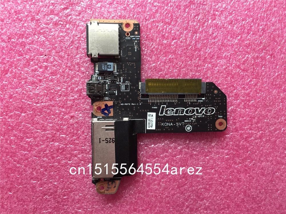 New and Original for Lenovo ThinkPad Yoga2 Pro 13 SSD Board HDMI Card Reader USB Board Reader Disport 90004971 VIUU3 45502912001 new original for usb lan board for lenovo thinkpad l430 rj45 subcard 14w cards misc 04w3743 0b66405