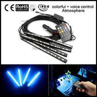 2016 Multi Color Voice Sound Music Control Flexible Interior Decorative Atmosphere Neon Lamp LED Wireless Remote