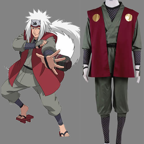 Naruto Jiraiya Traje Cosplay