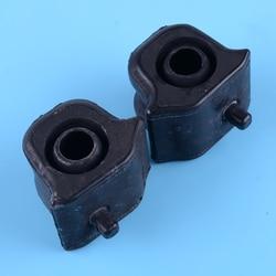 Beler Hitam 2 Pcs Kiri dan Kanan Suspensi Depan Bar Stabilizer Bushing 48815-42090 48815-42100 Cocok untuk toyota RAV4 2006-2012