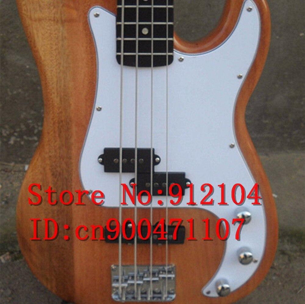 Livraison gratuite nouveau Big John 4 cordes basse électrique guitare en naturel avec corps en acajou F-322