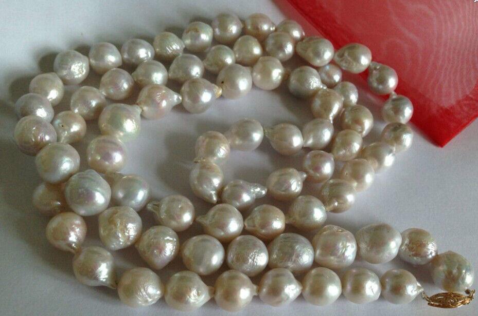 charm accessory choker shone> 12-13mm Australian south sea baroque white pearl necklace 33inchcharm accessory choker shone> 12-13mm Australian south sea baroque white pearl necklace 33inch