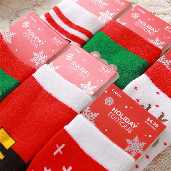 1-10years Children Cotton fashion Cartoon Socks Boy Girl Baby Warm socks Christmas present Autumn Winter new Kids Free shipping (3)