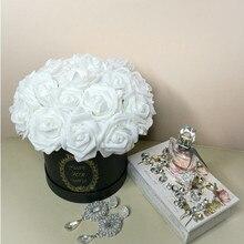 20 шт./лот 8 см искусственные цветы ПЭ пена Роза поддельные бутоны для дома Свадебные цветы невесты украшение букетов