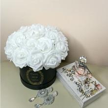 20PCS/lot 8cm Artificial Flowers PE Foam Rose Fake Head for Home Wedding Flower Bride Bouquet Decoration