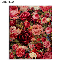 Oil Painting FlowerColoring By Numbers DIY Painting By Numbers On Canvas Home Decor For Living Room