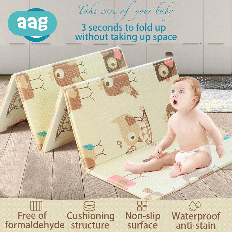 AAG infantile bébé pliable jouer Double face tapis d'escalade jouer Gym exercice tapis mousse Pad XPE insipide Parlor jeu couverture
