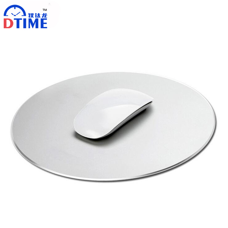 DTIME Aluminium Slim Gaming Mouse Pad for MAC/PC Silver