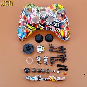 Image 2 - JCD ل XBox 360 أداة تحكم في الألعاب لاسلكية غطاء واقٍ مزخرف لهاتف آيفون غمبد واقية قذيفة غطاء كامل مجموعة W/أزرار التناظرية عصا مصدات