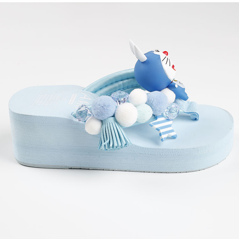f4a9a6971c35d9 summer women thong slippers cartoon doraemon fashion cute wedge sandals  platform red bottom beach shoes mules clogs flip flops-in Slippers from  Shoes on ...
