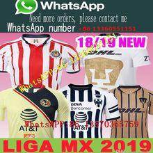 9a9542e30 Mexico MX League CHIVAS Guadalajara Club America UNAM TIGRES Monterrey  Cougar Soccer Jerseys 2018 2019 Cuervos