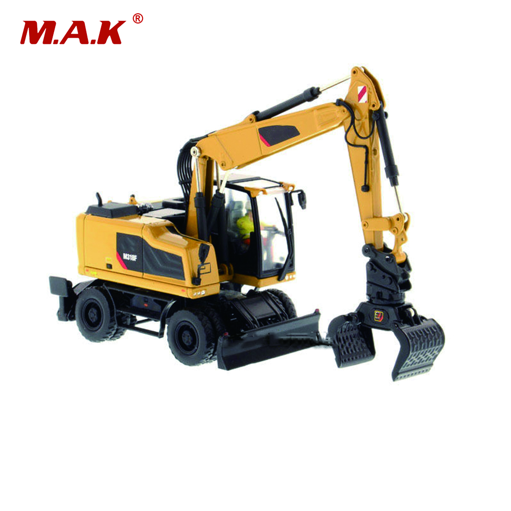 Collection Diecast 1/50 Scale M318F Wheeled Diecast Excavator Truck Car Vehicles Diecast Model