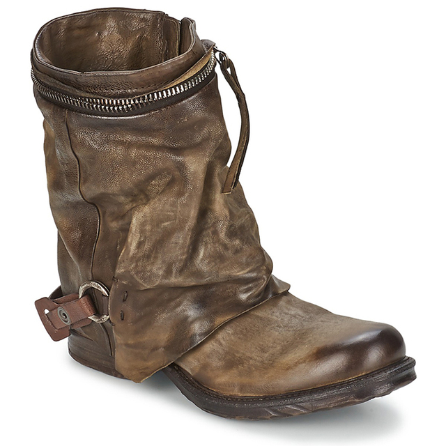 Genuine Leather Vintage Winter Women Ankle Boots Fashion Cowboy Boots European Woman Riding Boots