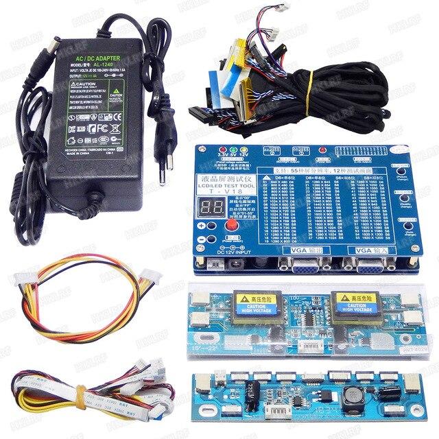 T V18 اختبار أداة ل لوحة LED شاشة LCD تستر دعم 7 84 بوصة + محول الجهد مجلس 14 قطعة LVDS