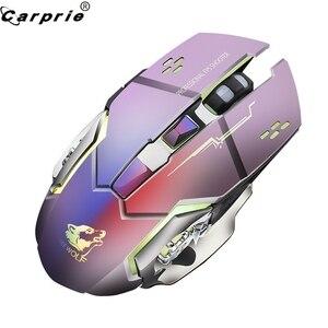Image 4 - Wiederaufladbare X8 Wireless Gaming Maus 2400DPI Stille Noiseless LED Backlit USB Optische Ergonomische Gaming Mäuse Stumm 90214