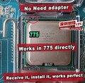 Intel xeon e5440 2.83 ghz/12 m/1333 mhz/igual a lga775 cpu core 2 quad q9550 cpu, funciona en lga775 placa base sin necesidad de adaptador